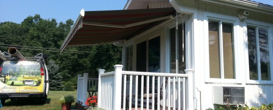 George and Anne's Retractable Awning Side View