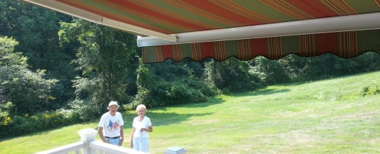 George and Anne's Retractable Awning